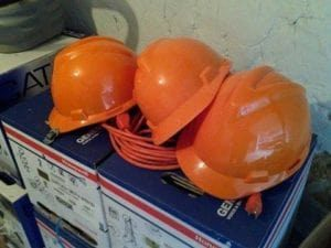 hard hats are compulsory safety wear