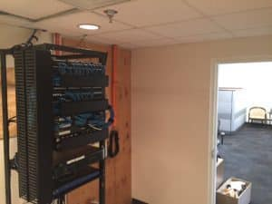 MDF network data cabling