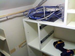 closet network cabling